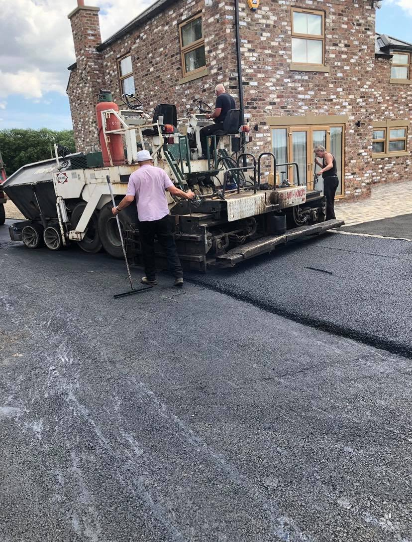 Laying tarmac in the North East
