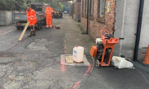 Tarmac yard re-instatement work Newcastle
