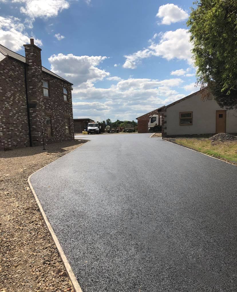 New Tarmacadam Driveway in North Yorkshire