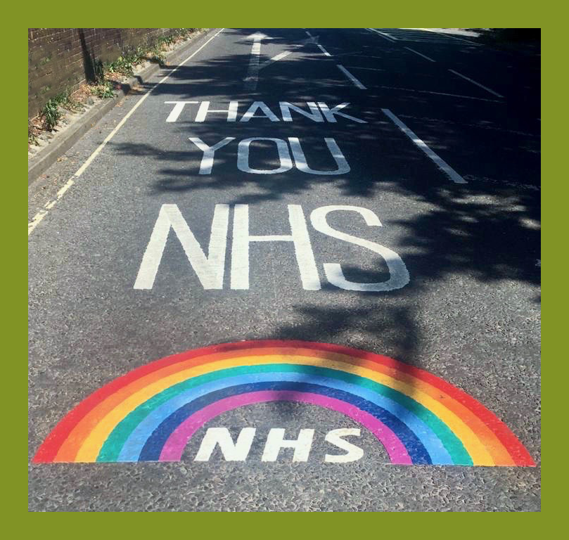Darlington Driveway Specialist Armstrong's Roads & Driveways 'Thank You NHS' message on road surface