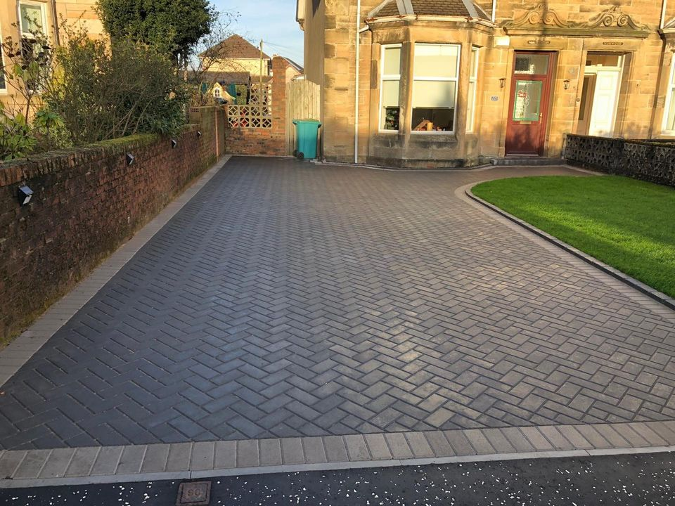 High Quality Block Paving Driveway in Scotland by Armstrong's Roads & Driveways
