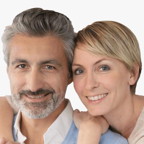 Smiling Darlington Block Paving Driveway customer testimonial couple